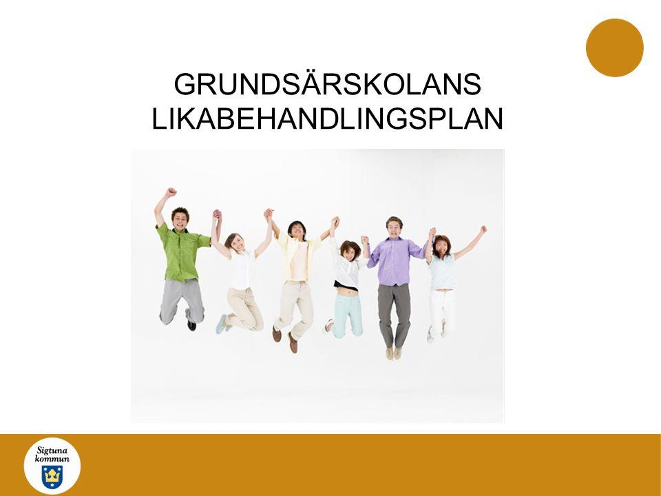 GRUNDSÄRSKOLANS LIKABEHANDLINGSPLAN