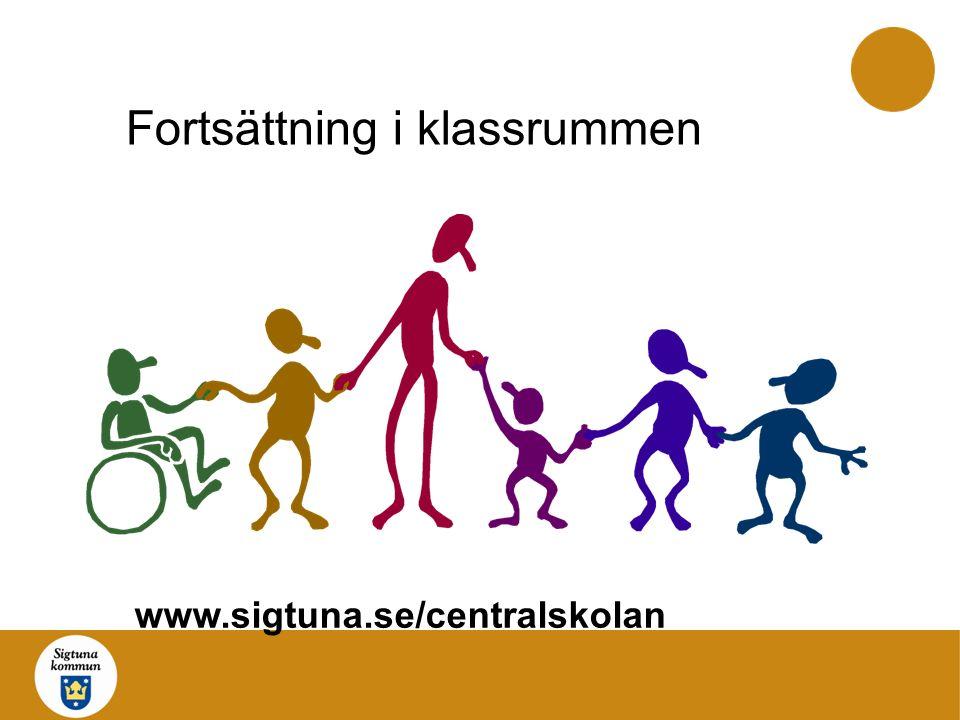Fortsättning i klassrummen www.sigtuna.se/centralskolan