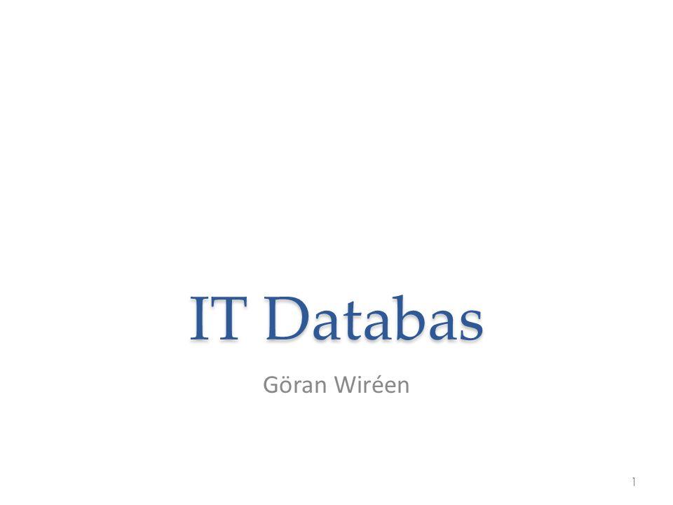 IT Databas Göran Wiréen 1
