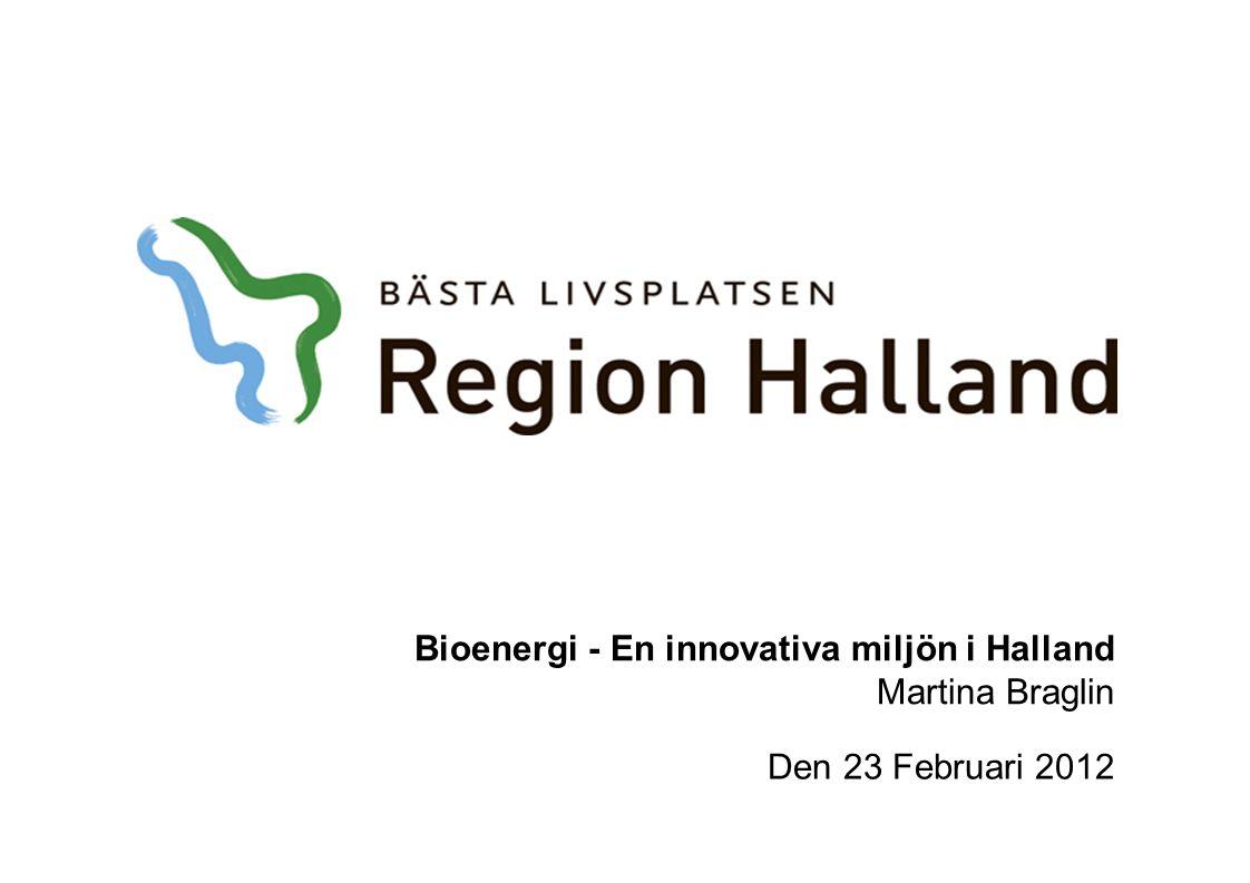Bioenergi - En innovativa miljön i Halland Martina Braglin Den 23 Februari 2012