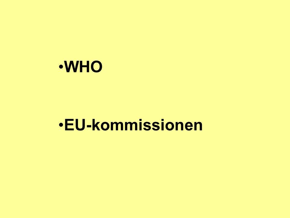 WHO EU-kommissionen