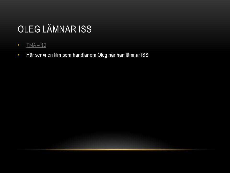 OLEG LÄMNAR ISS TMA – 10 Här ser vi en film som handlar om Oleg när han lämnar ISS