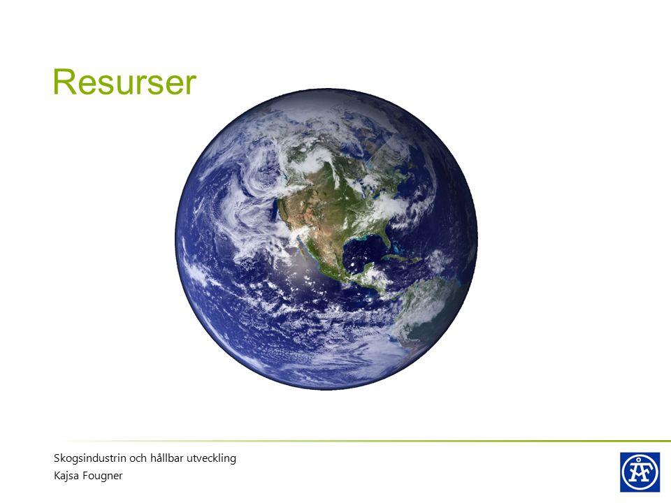 Skogsindustrin och hållbar utveckling Kajsa Fougner Resurser