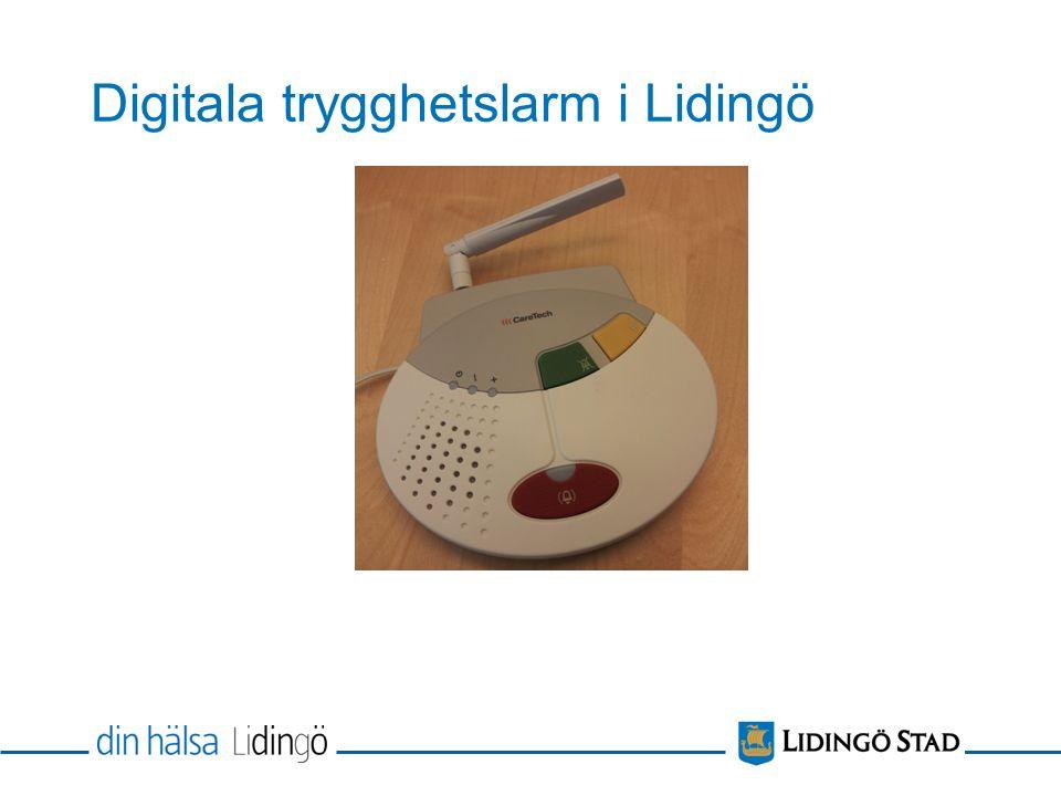 Digitala trygghetslarm i Lidingö
