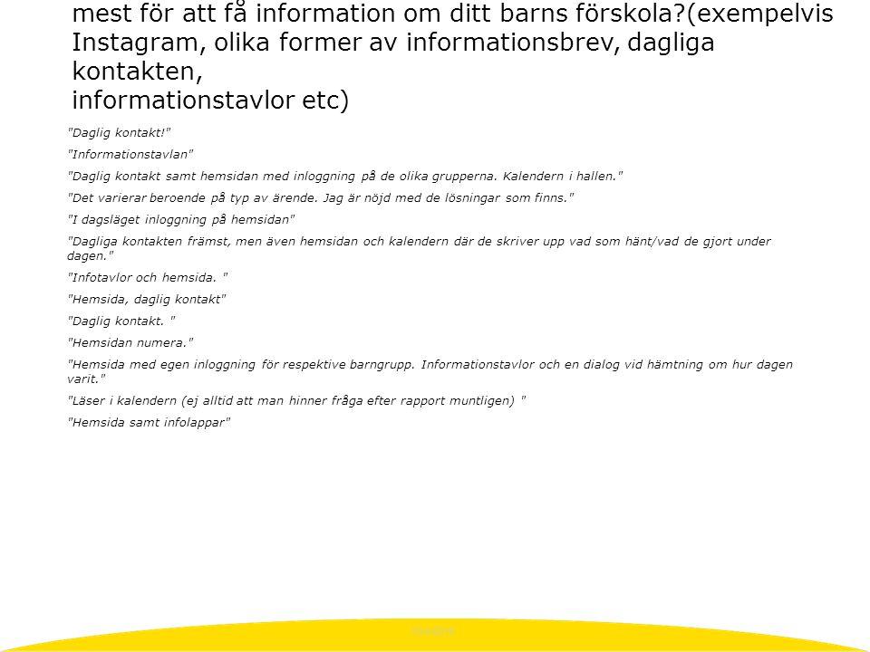 10/4/2015 Daglig kontakt! Informationstavlan Daglig kontakt samt hemsidan med inloggning på de olika grupperna.