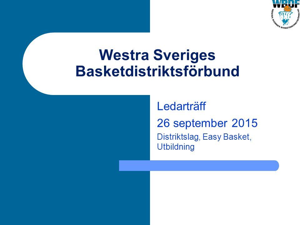 Westra Sveriges Basketdistriktsförbund Ledarträff 26 september 2015 Distriktslag, Easy Basket, Utbildning