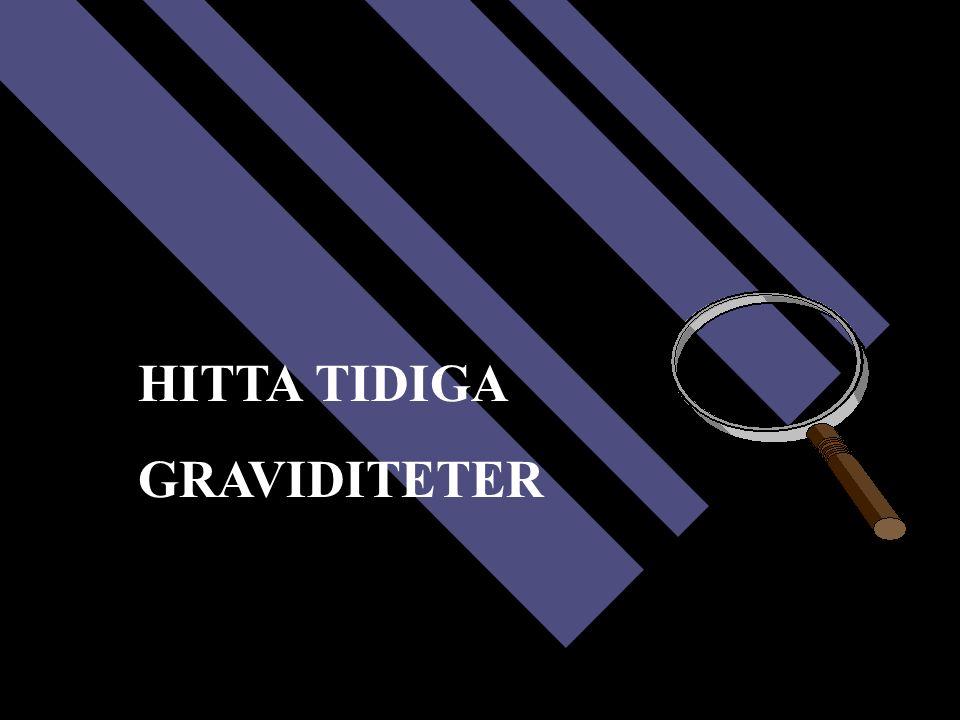 HITTA TIDIGA GRAVIDITETER