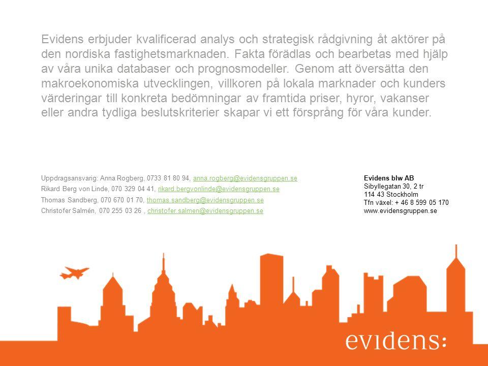 43 Strategi Kantarellen Presentation 2015-05-04 Evidens blw AB Sibyllegatan 30, 2 tr 114 43 Stockholm Tfn växel: + 46 8 599 05 170 www.evidensgruppen.se Evidens erbjuder kvalificerad analys och strategisk rådgivning åt aktörer på den nordiska fastighetsmarknaden.