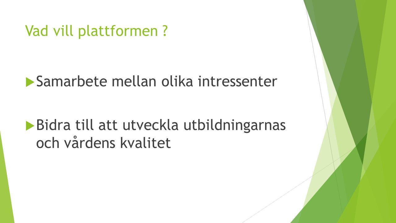 Vilka är Nationella plattformen för förbättringskunskap.