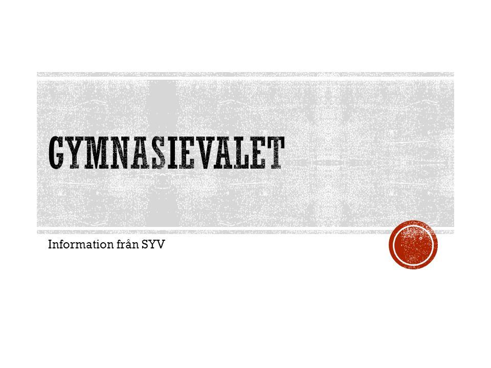 Information från SYV