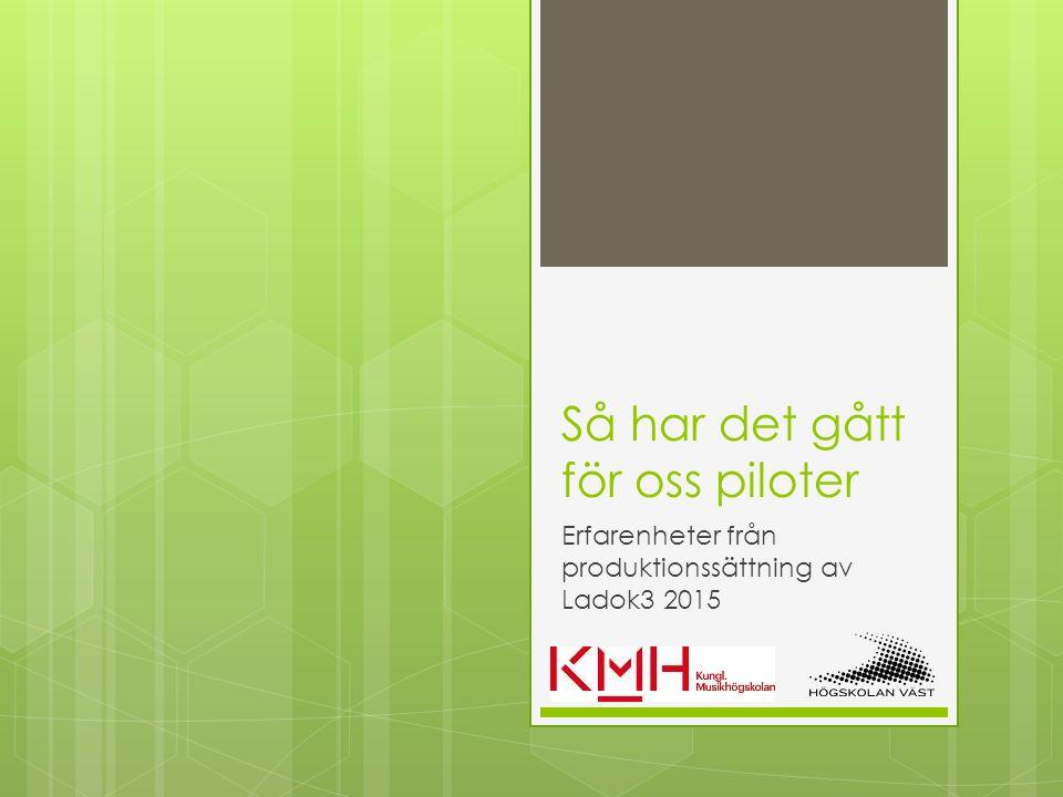 Så har det gått för oss piloter Christopher Sönnerbrandt, Kungl.