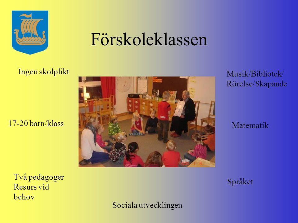 En dag i förskoleklassen Saga Rörelse Trulle/matte Rast Matprat Lunch/rast Skapande Avslappning Slut för idag!