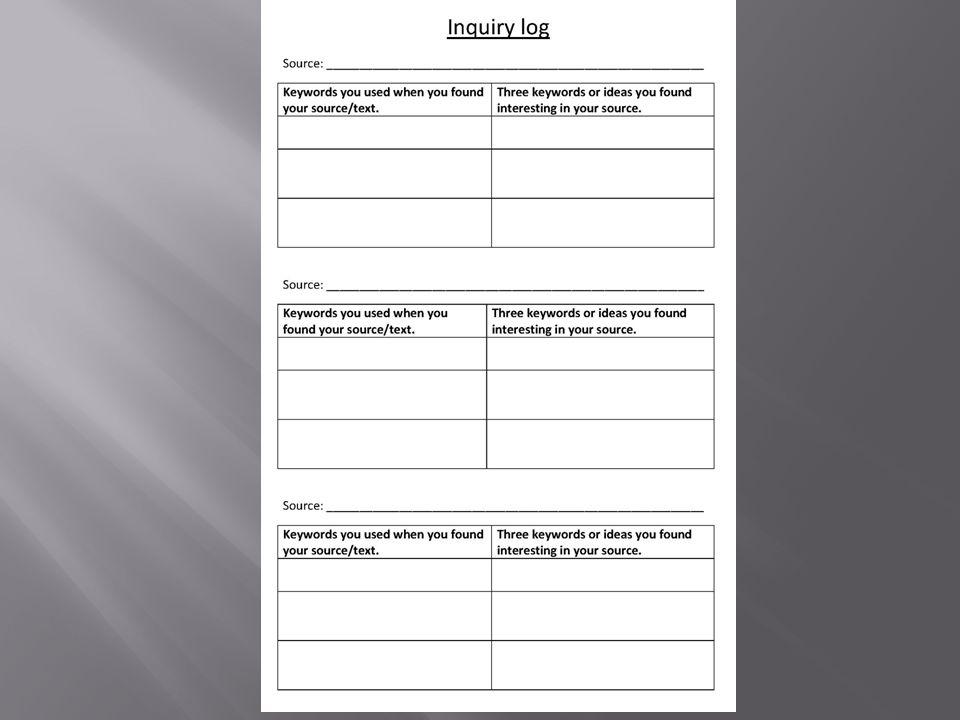 Läs igenom dina artiklar. Hitta ämnesord och skriv upp dem.