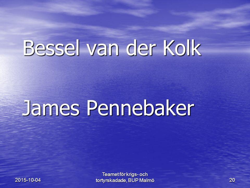 Bessel van der Kolk James Pennebaker 2015-10-04 Teamet för krigs- och tortyrskadade, BUP Malmö20