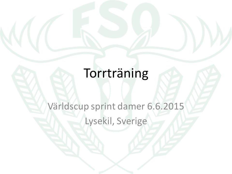 Torrträning Världscup sprint damer 6.6.2015 Lysekil, Sverige