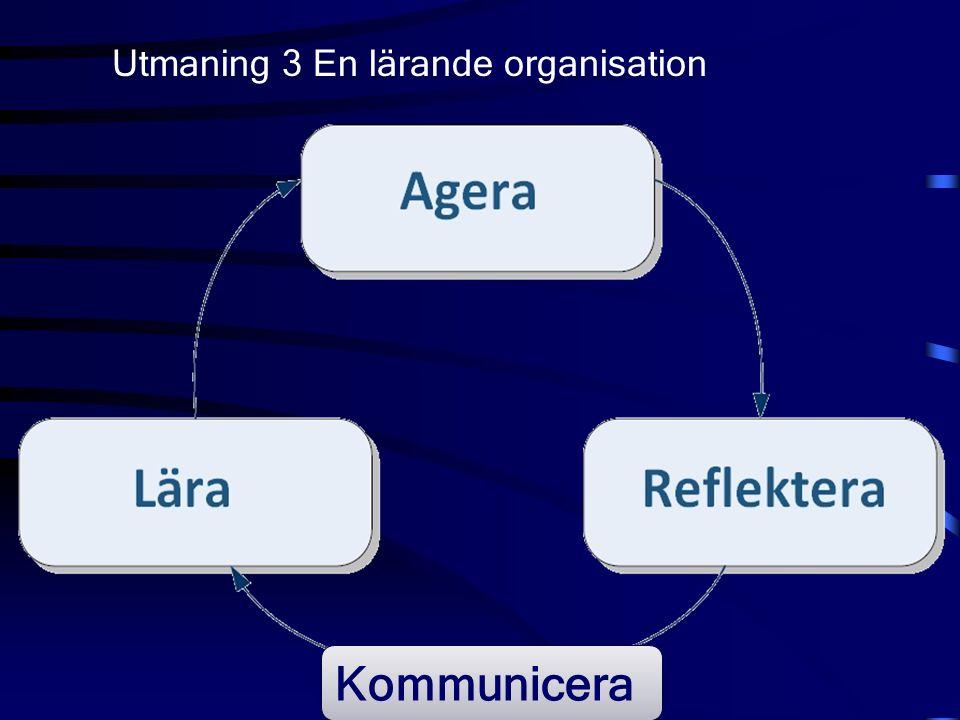 Utmaning 3 En lärande organisation Kommunicera
