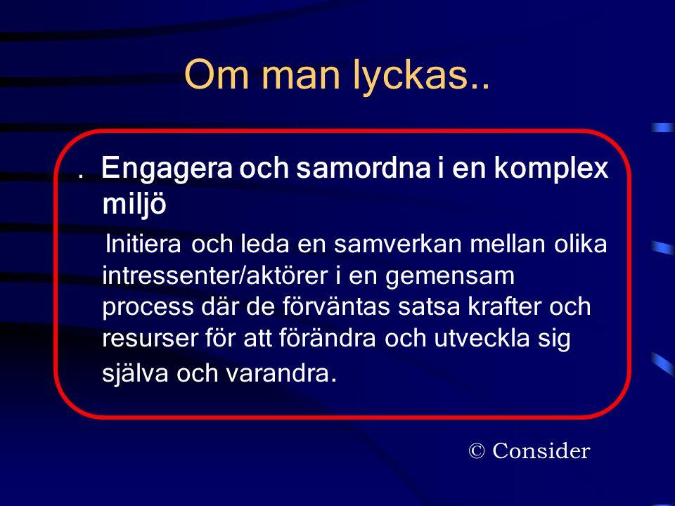 © Consider Om man lyckas...