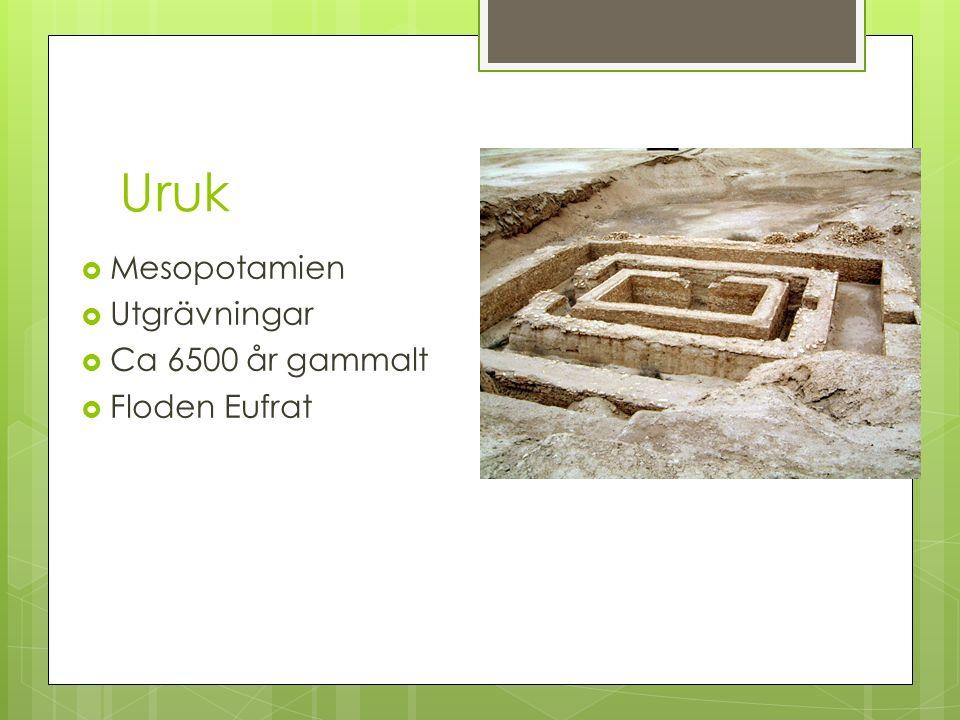 Uruk  Mesopotamien  Utgrävningar  Ca 6500 år gammalt  Floden Eufrat