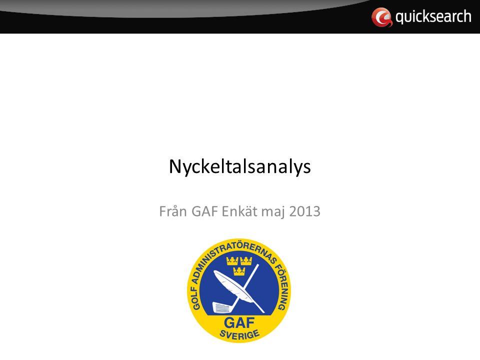 Nyckeltalsanalys Från GAF Enkät maj 2013
