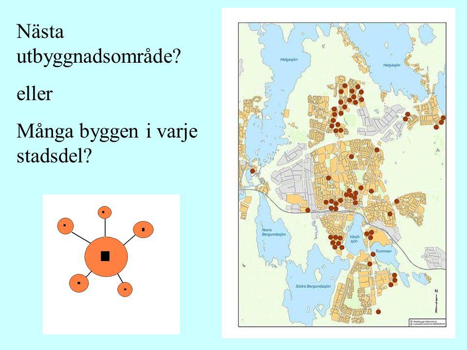 Nästa utbyggnadsområde eller Många byggen i varje stadsdel