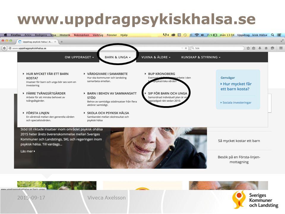 www.uppdragpsykiskhalsa.se 2015-09-17Viveca Axelsson