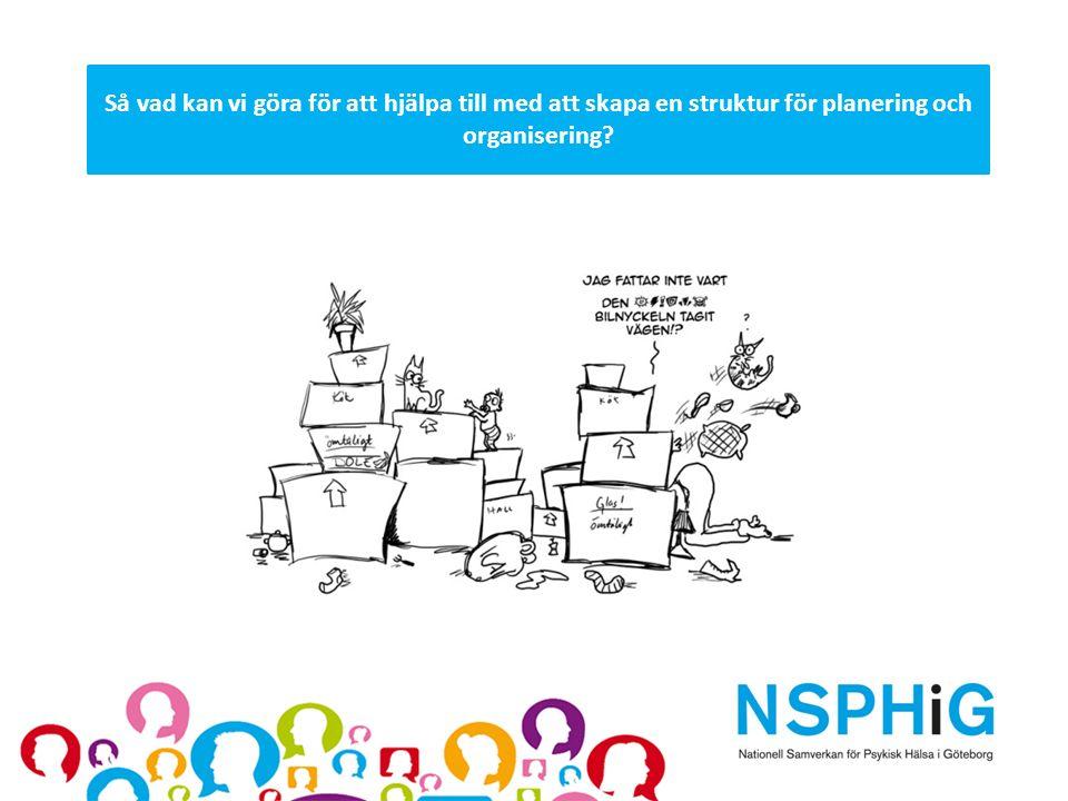 Så vad kan vi göra för att hjälpa till med att skapa en struktur för planering och organisering?