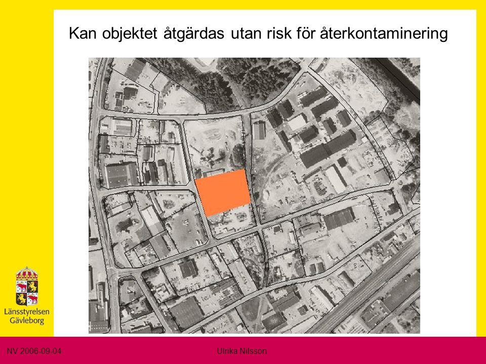 NV 2006-09-04Ulrika Nilsson Kan objektet åtgärdas utan risk för återkontaminering