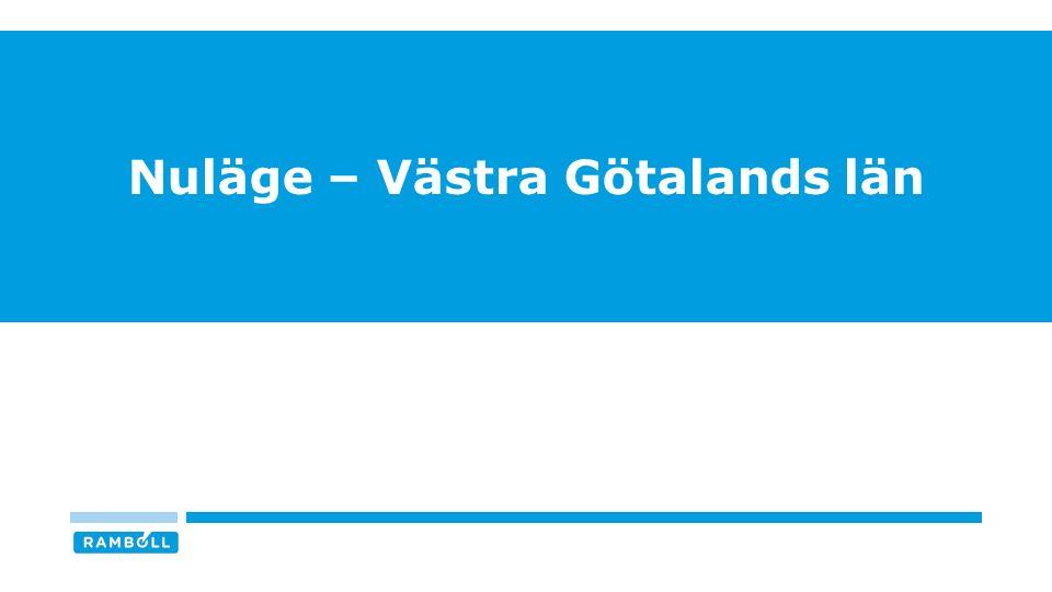 NULÄGET FÖR DIGITALISERINGSARBETET I VÄSTRA GÖTALANDS LÄN 5 n = 17 / Svarsfrekvens = 68% Källa: Digitaliseringskommissionen