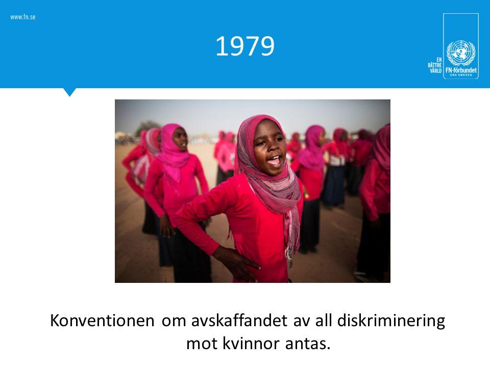 1979 Konventionen om avskaffandet av all diskriminering mot kvinnor antas.