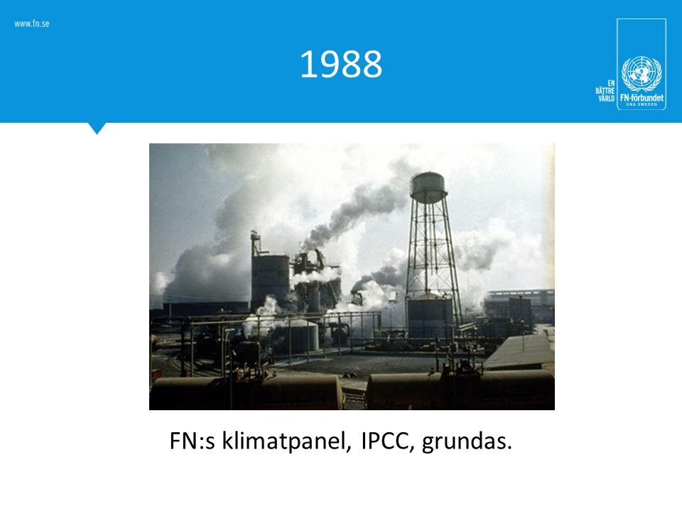1988 FN:s klimatpanel, IPCC, grundas.