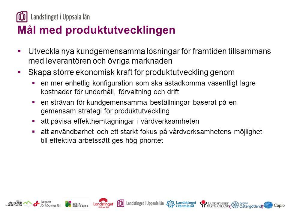Erik Sköldenberg Mål med produktutvecklingen  Utveckla nya kundgemensamma lösningar för framtiden tillsammans med leverantören och övriga marknaden 