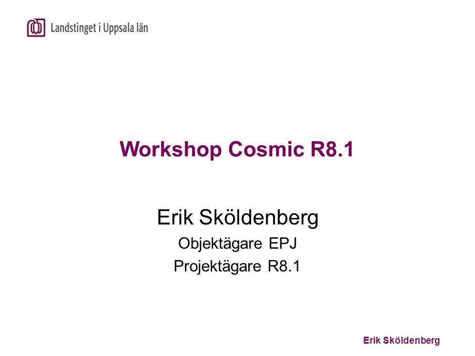 Erik Sköldenberg Agenda 10.00 – 11.30InledningErik Sköldenberg Demonstration R8.1Tomas Block 11.30 – 12.00Vad behövs för ett Erik Sköldenberg bra införande.