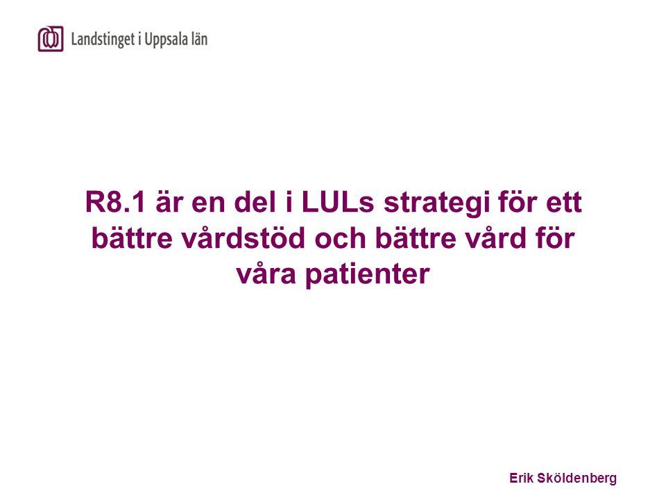 Erik Sköldenberg R8.1 är en del i LULs strategi för ett bättre vårdstöd och bättre vård för våra patienter