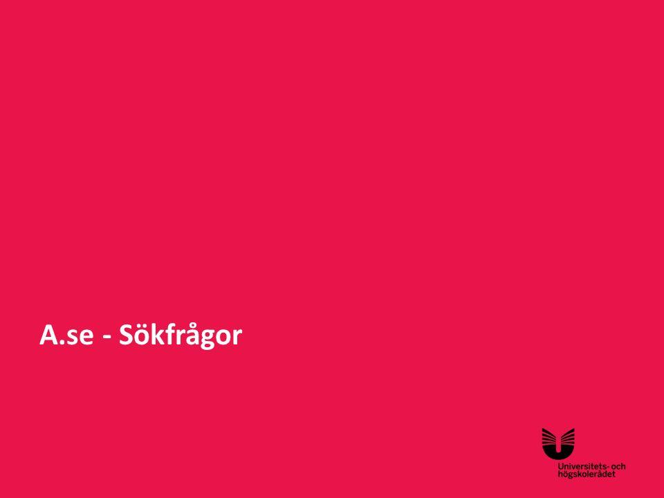 Sv A.se - Sökfrågor
