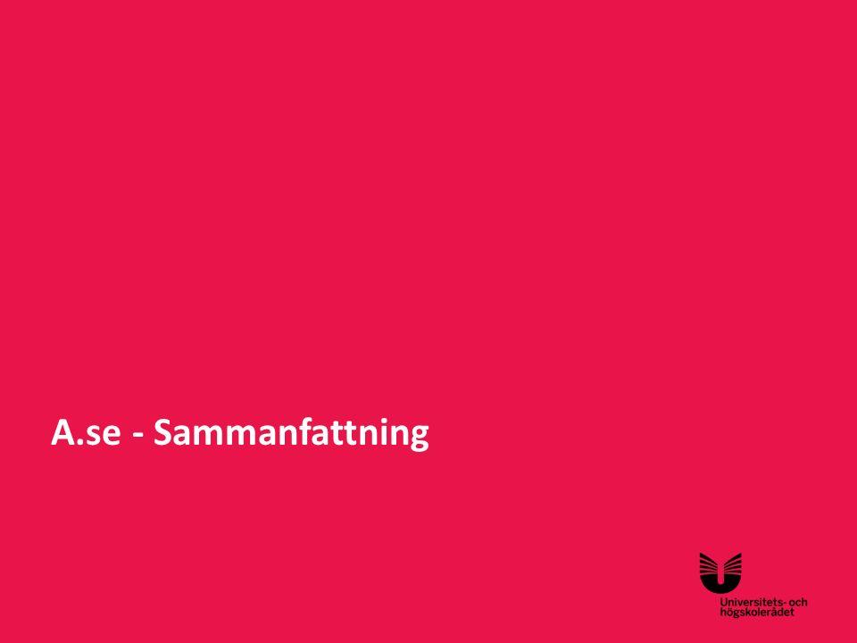 Sv A.se - Sammanfattning