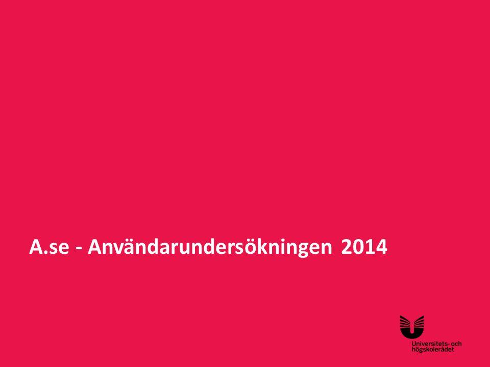 Sv A.se - Användarundersökningen 2014