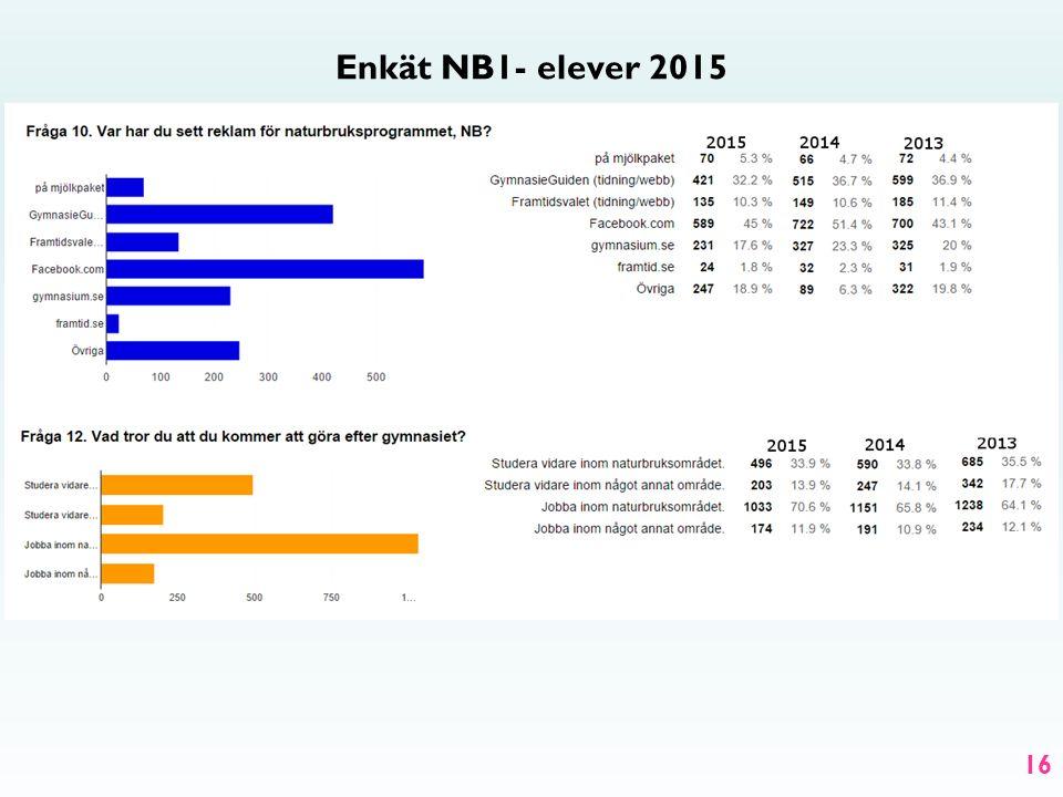 Enkät NB1- elever 2015 16