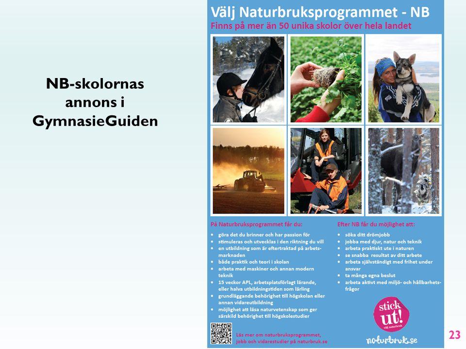 23 NB-skolornas annons i GymnasieGuiden