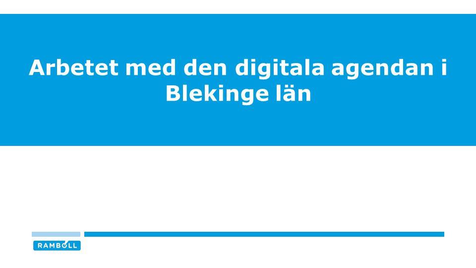 Arbetet med den digitala agendan i Blekinge län