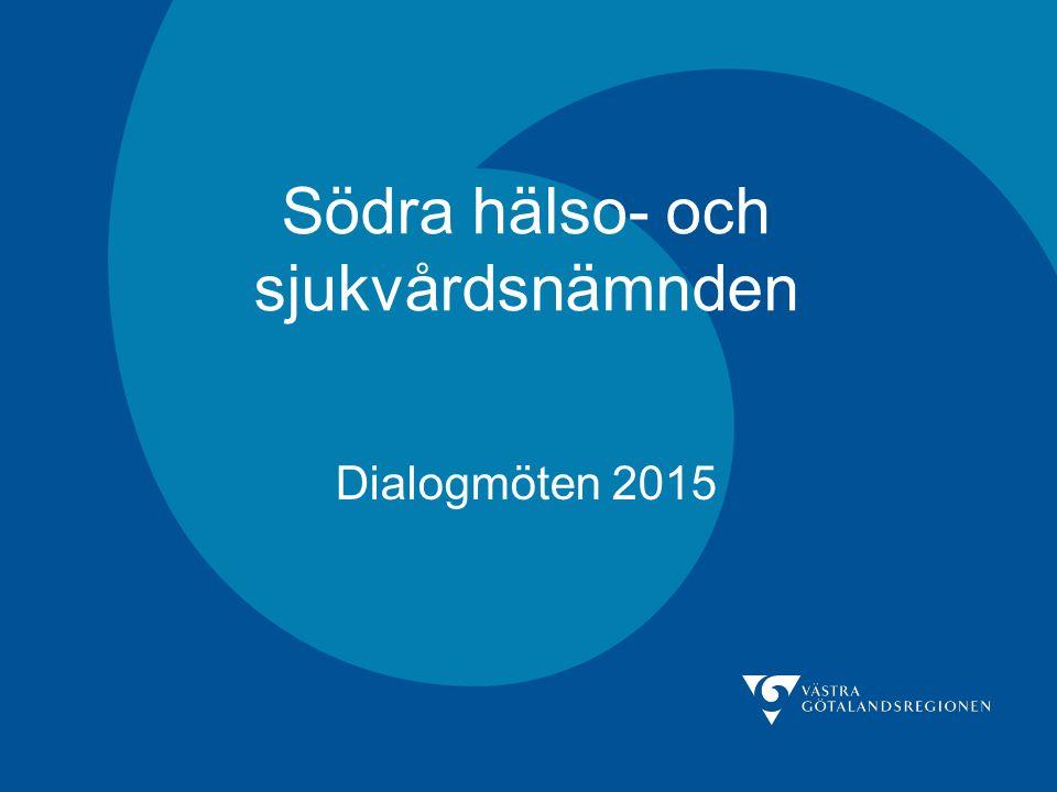 Södra hälso- och sjukvårdsnämnden Dialogmöten 2015