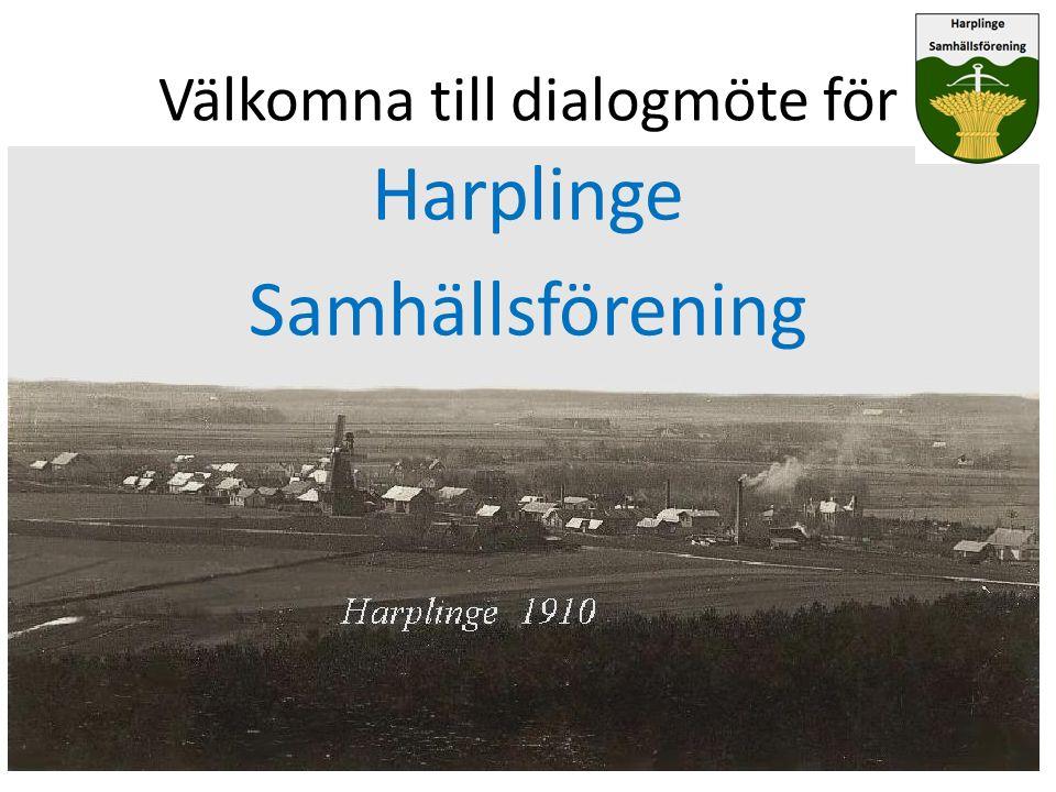 Välkomna till dialogmöte för Harplinge Samhällsförening