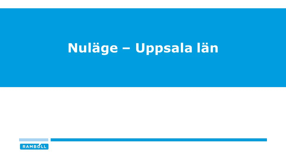 Nuläge – Uppsala län