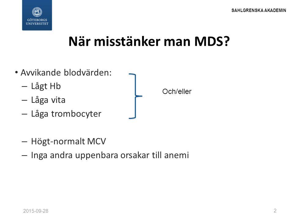Rapport nr 2 från MDS-registret WHO-diagnos MDS