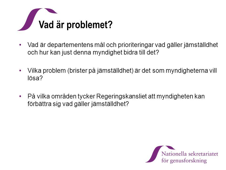 Vad är problemet.