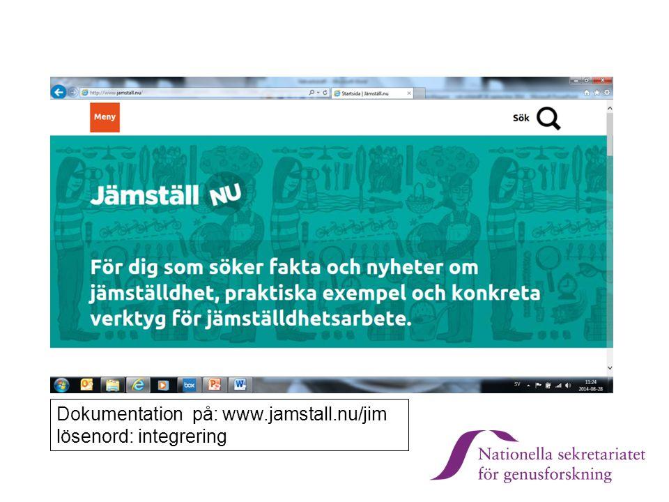 Skriv text här Kopiera sidan för denna mall Dokumentation på: www.jamstall.nu/jim lösenord: integrering