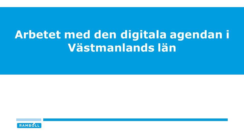 Arbetet med den digitala agendan i Västmanlands län