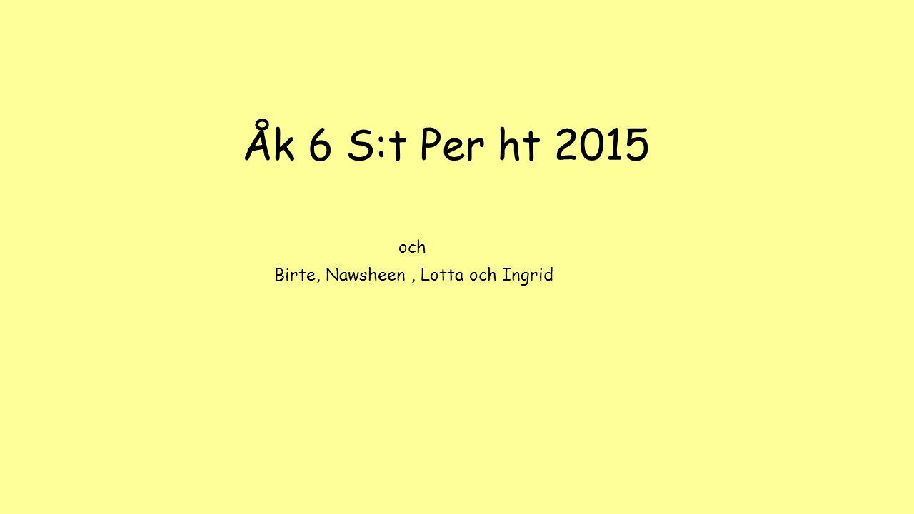 Åk 6 S:t Per ht 2015 Birte, Nawsheen, Lotta och Ingrid och