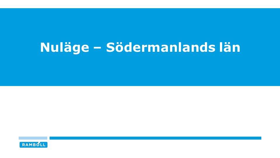 Nuläge – Södermanlands län