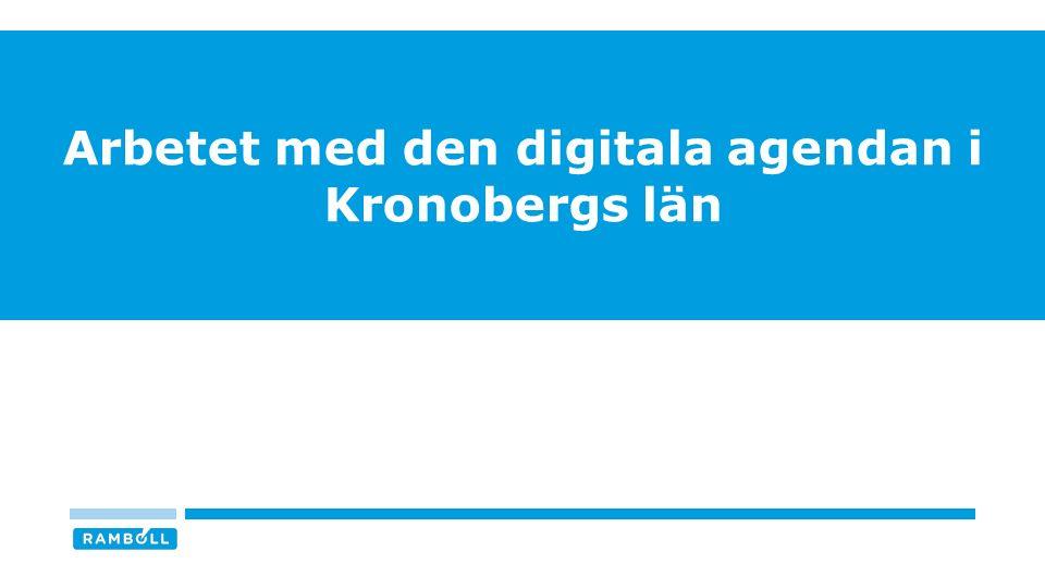 Arbetet med den digitala agendan i Kronobergs län