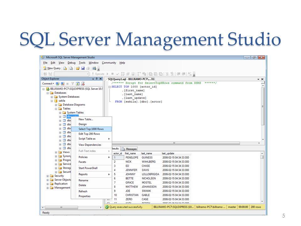 SQL Server Management Studio 5